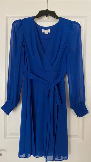 Jessica Simpson pleated royal blue dress for Sale in Florence, KY