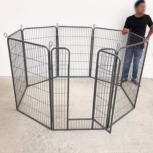 """New in box $125 Heavy Duty 48"""" Tall x 32"""" Wide x 8-Panel Pet Playpen Dog Crate Kennel Exercise Cage Fence for Sale in Whittier, CA"""