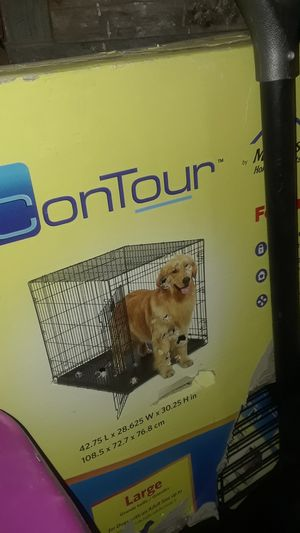 Dog crate large it's 25 in tall 32 in Long I can fit German Shepherd Rottweiler never used for Sale in Philadelphia, PA