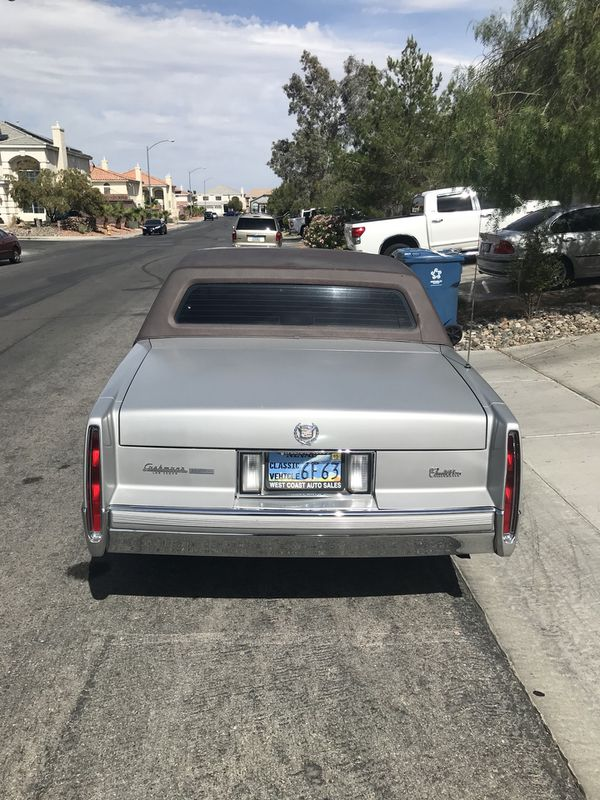 Sweet 89 Cadillac Coupe Deville Carfax And Title In Hand