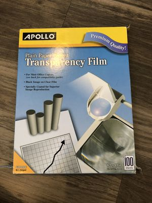 Apollo Transparency Film for Sale in Lincoln, NE