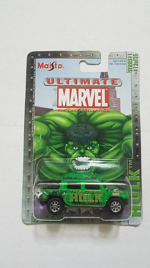 Maisto Ultimate Marvel INCREDIBLE HULK series 1 # 12 Hummer for Sale in Kissimmee, FL
