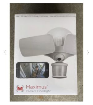 Maximus Motion Activated LED Floodlight w/ Camera for Sale in Sun Prairie, WI