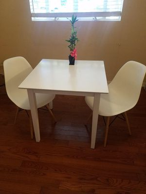 Breakfast Table and 2 Eames Style Chairs for Sale in Phoenix, AZ
