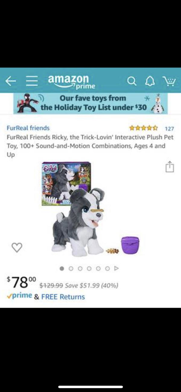 FurReal Friends Ricky animated stuffed dog toy