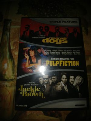 Triple Feature DVD - Reservoir Dogs/Pulp Fiction/Jackie Brown - Brand New for Sale in Anaheim, CA