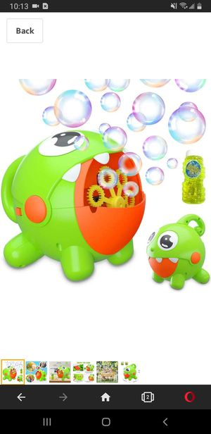 Bubble Machine, Bubble Toy for Kids Automatic Bubble Machine 3000 Bubbles Per Minute, Durable Bubble Blower for Kids, Party, Wedding, Outdoor Indoor for Sale in Tustin, CA