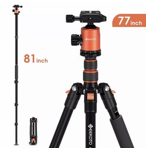 """Geekoto 77"""" Camera Tripod DSLR Compact Aluminum Tripod with 360 Degree Ball for Sale in Ontario, CA"""