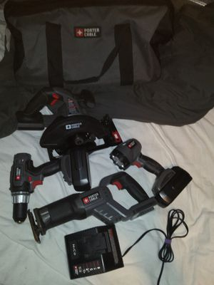 Brand new Porter Cable except for Sawzall new batteries $125 for Sale in Port Richey, FL