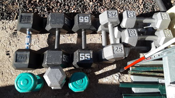 Dumbbell type weights