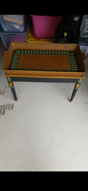 VINTAGE TRAY TABLE!33X19X20!( SOLD TOGETHER!) for Sale in Delray Beach, FL