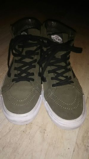 Army green high top vans.. for Sale in South Salt Lake, UT