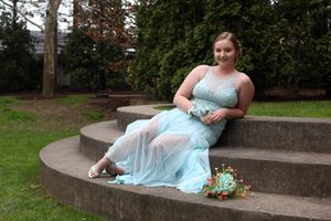 Blue prom dress for Sale in Bath, NY