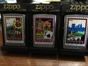 3 BRAND NEW ZIPPOS LIGHTERS !! for Sale in Wilmington, MA