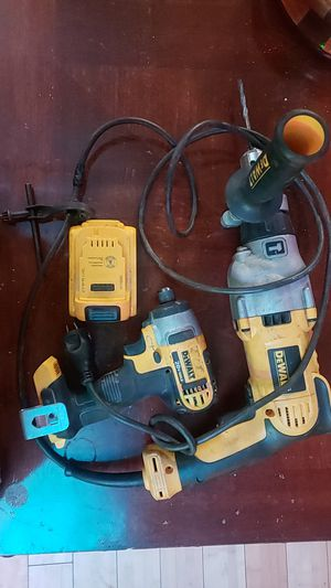 Dewalt drills,Electric hammer drill and 20v impact drill 1 battery an 1 charger for Sale in Gaffney, SC