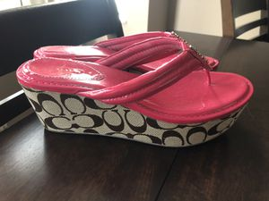 Coach sandals women's 8 for Sale in Pickerington, OH