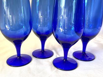 Vintage Cobalt Blue Wine Glasses for Sale in Signal Hill,  CA