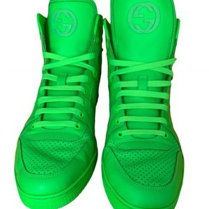 Gucci Coda Neon Green Leather High Top Sneakers for Sale in Raleigh, NC