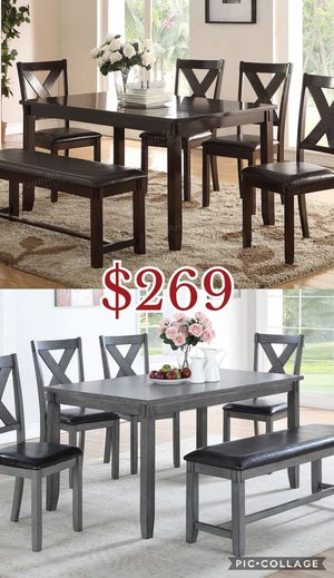6pcs dining table set, table set, chairs for Sale in Los Angeles, CA