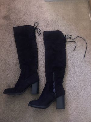 thigh high boots with heel for Sale in Brooks, OR