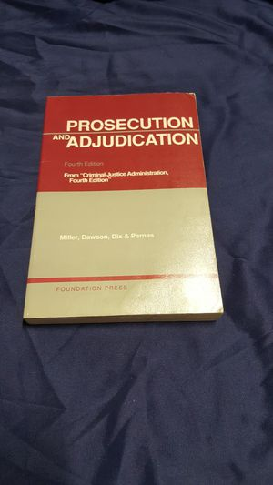 Prosecution and Adjudication( fourth Edition) for Sale in Las Vegas, NV