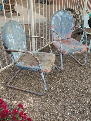 Antique lawn chairs (pair) for Sale in Tucson, AZ