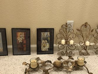 Frames and candle holders for Sale in Turlock,  CA