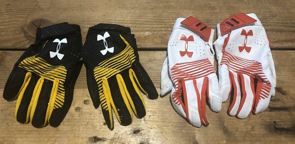 Men's UA cleanup baseball batting gloves size Large