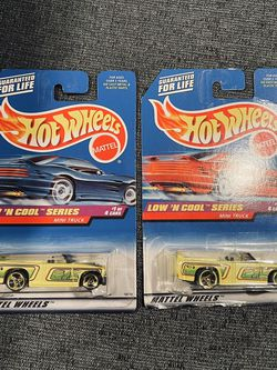 1998 Hot Wheels #697 Low N' Cool Series #1 MINI TRUCK Red And Blue Card Lot Of 2 for Sale in Waco,  TX