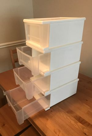 4 piece set storage containers measuring 12'x9'x6 like new move out sale pick up in buckhead only for Sale in Atlanta, GA