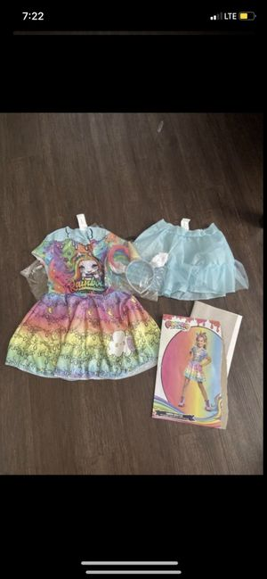 Poopsie girl costume 4-6 for Sale in Irving, TX