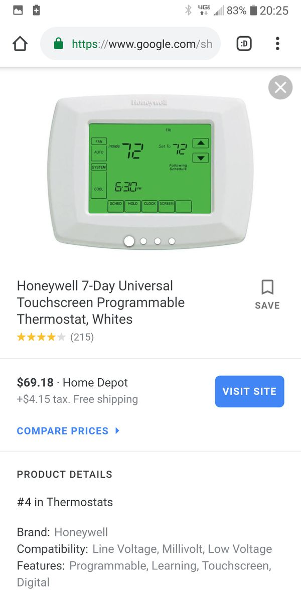 Honeywell 7-Day Programable Thermostat