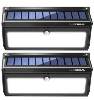Solar lights Outdoor, Luscreal Super Bright 100 LED Solar Motion Sensor Security Wall Lights for Front Door Back Yard Garage Deck Porch Step Stair Ga for Sale in Piscataway, NJ