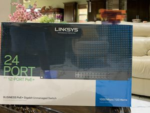 Linksys LGS124P Smart Switch 24-port smart Gigabit Ethernet PoE+ for Sale in Irving, TX