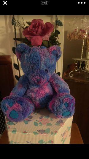 "Purple & pink teddy bear plush 14 "" clean cute gift for Sale in Northfield, OH"