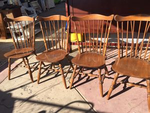 Solid wood Four chairs in very good condition. for Sale in Fresno, CA