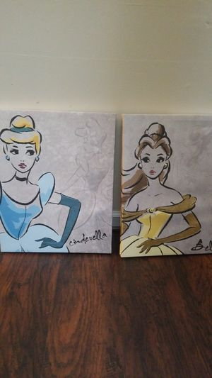 Cinderella and Belle Children's Wall Decor Picture for Sale in Norfolk, VA