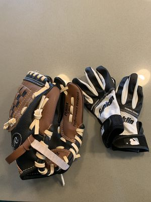 PL 90 BK 9 inch baseball mitt and gloves (4 year old) for Sale in Bellevue, WA