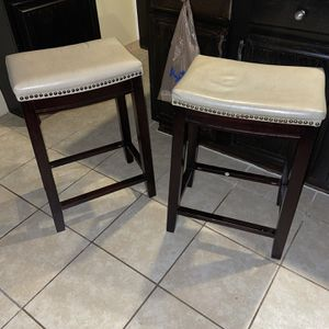 Two Bar Stools 20 each or 30 For Both One Is a Small stain for Sale in Houston, TX