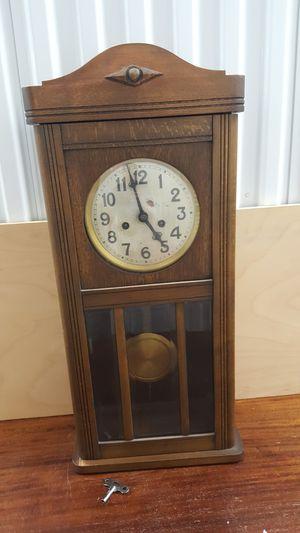 Antique German Pendulum Wall Clock for Sale in Woodstock, GA