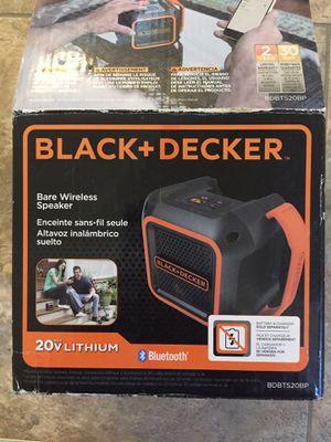 New black and decker Bluetooth speaker for Sale in Chesapeake, VA