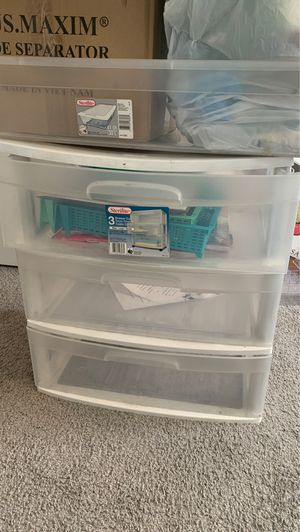 Plastic drawer cart for Sale in Washington, DC