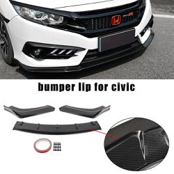 BRAND NEW 3PCS FRONT BUMPER LIP CARBON FIBER FOR HONDA CIVIC 2016-2021 for Sale in City of Industry,  CA