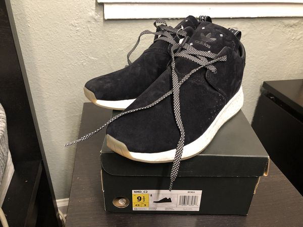 Adidas Originals NMD c2 Boost New Men's 9.5 Core Black BY3011 for Sale in Fircrest, WA OfferUp