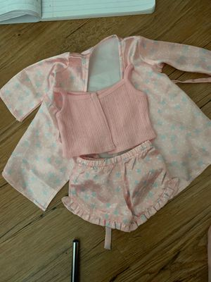 American Girl Doll satin floral pjs for Sale in Haines City, FL