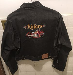 Used, Polo Motorcycle Club Indian denim jacket, large for Sale for sale  Brooklyn, NY