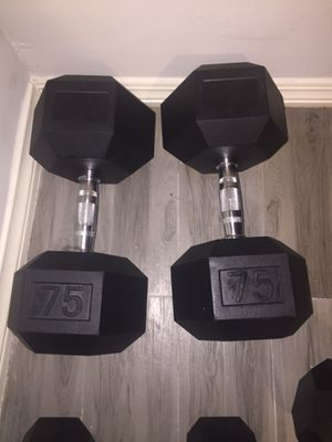Dumbbells 75lbs for Sale in Commerce, CA