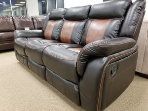 NEW! LRPX Reclining Sofa in Memphis Brown or Nash for Sale in Clayton, NC