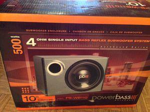 "10"" Powerbass subwoofer w/enclosure...NIB!!!! for Sale in San Francisco, CA"