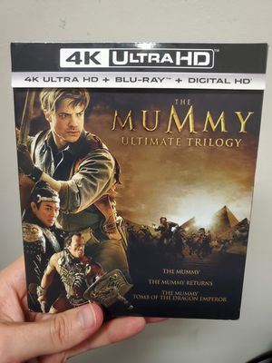 The Mummy Ultimate Trilogy in 4K UHD HDR and Regular Blu-ray Combo for Sale in Baytown, TX